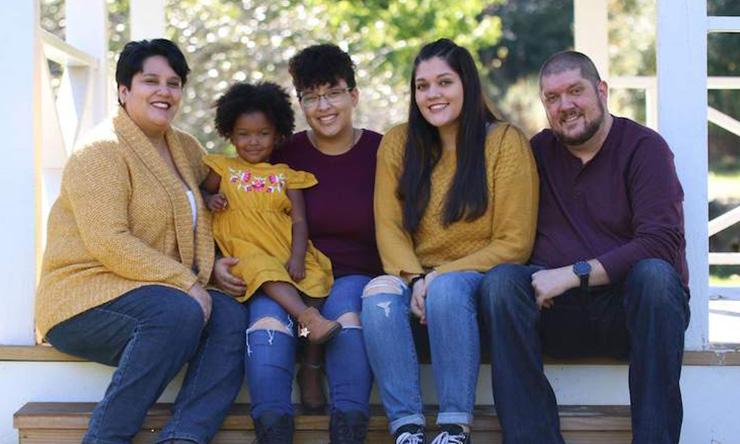 Reina Glandon and her family