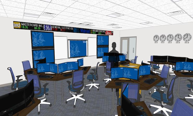 a 3d rendering of the new sales room inside mcmullen hall