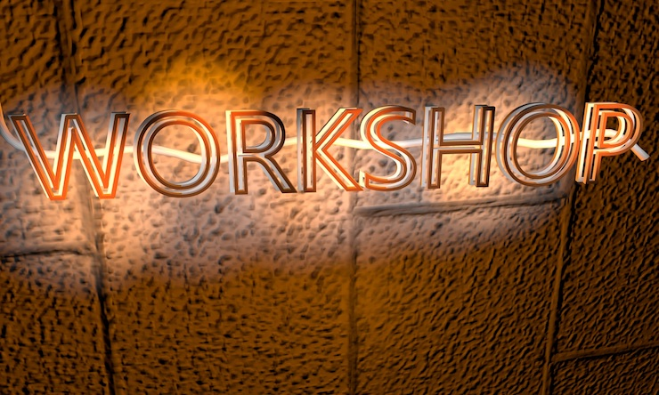 neon words workshop