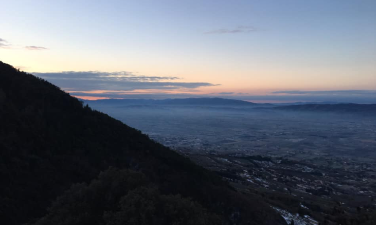 dawn in Assisi, Italy