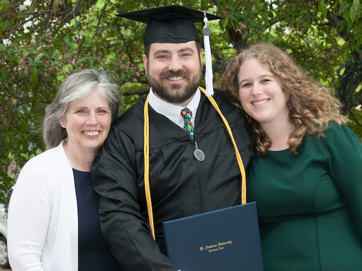 graduate and family