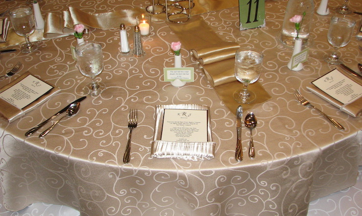 table with menu