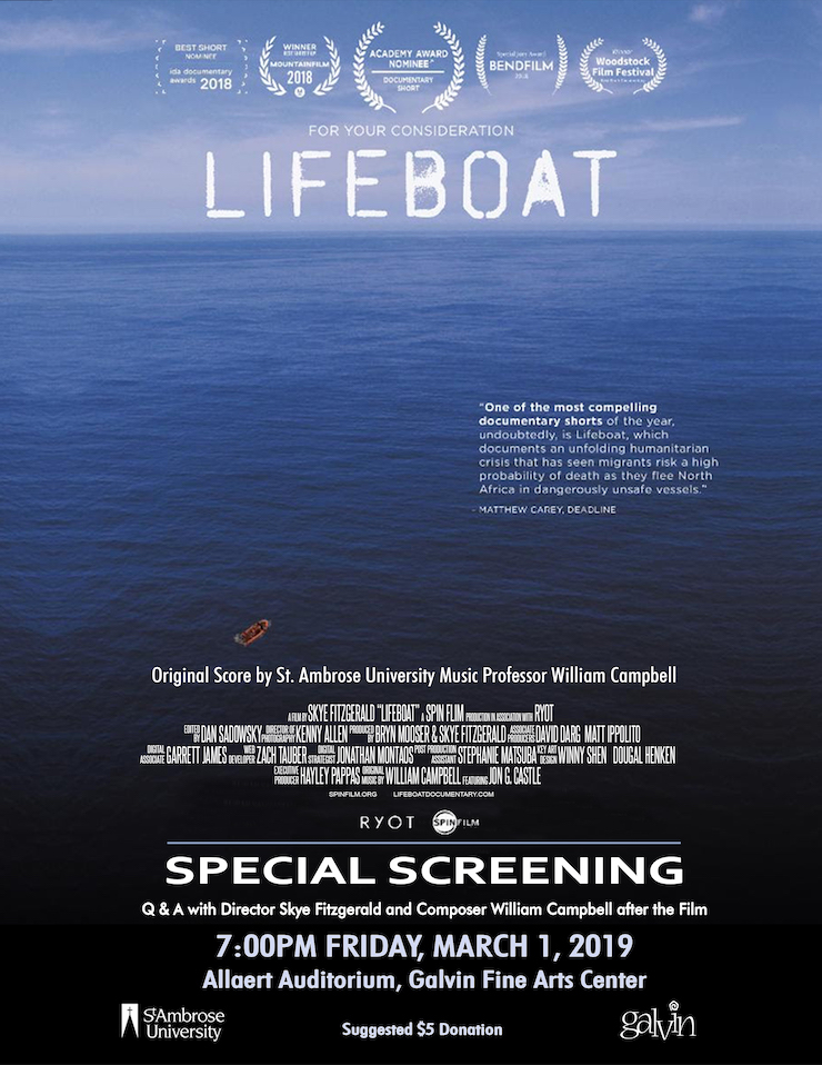 Screening: Oscar-Nominated Documentary Lifeboat at Galvin